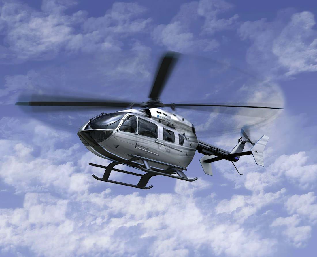 hélicoptère vue ciel