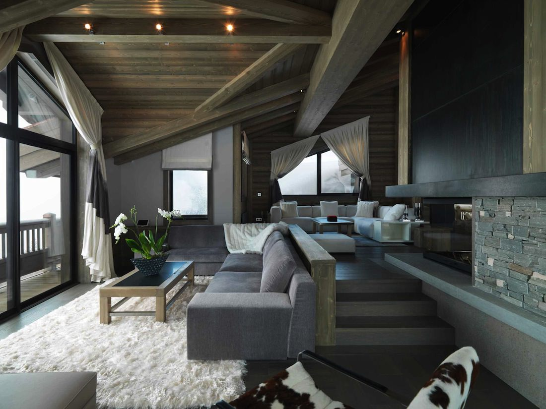 living room Bergerie courchevel