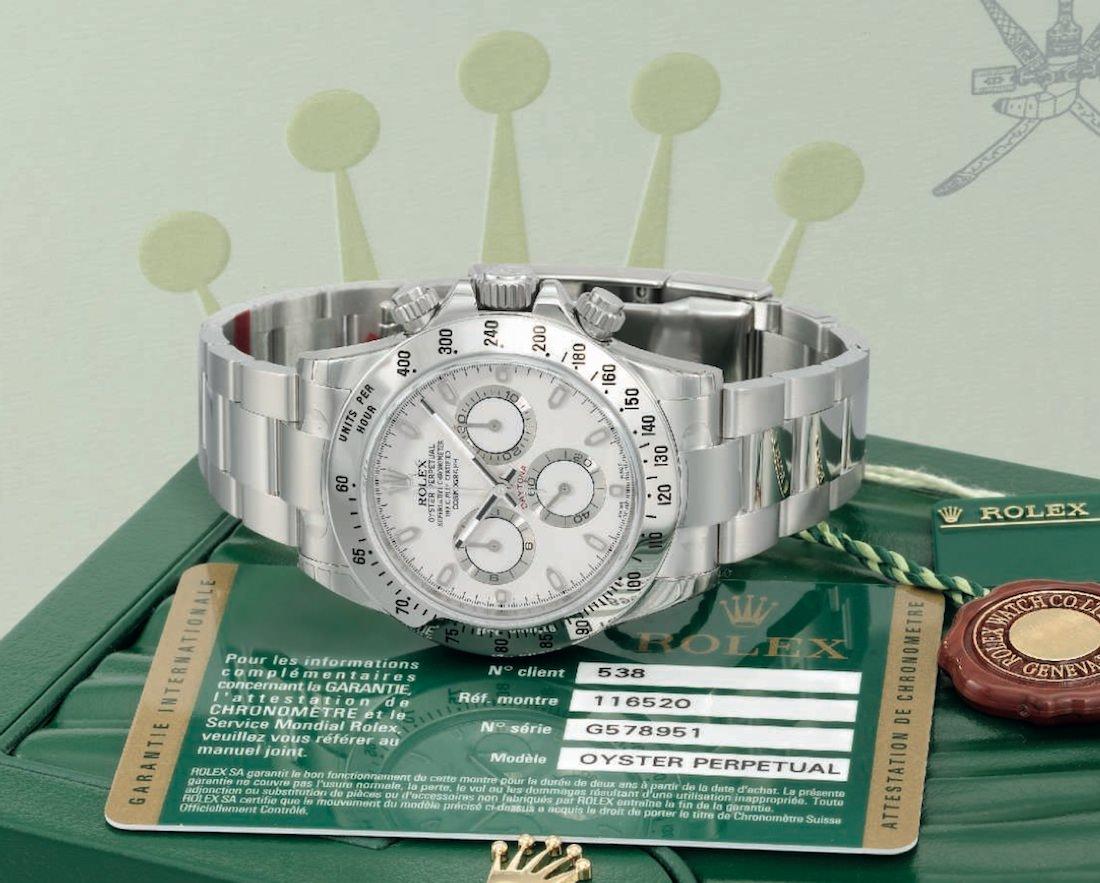 Rolex acier -