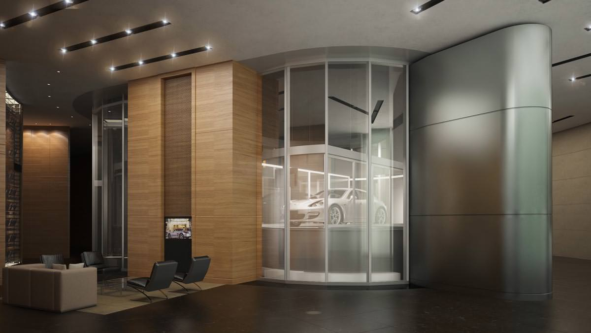 Porsche Design Tower Miami Sky Lift Car Elevator in Home