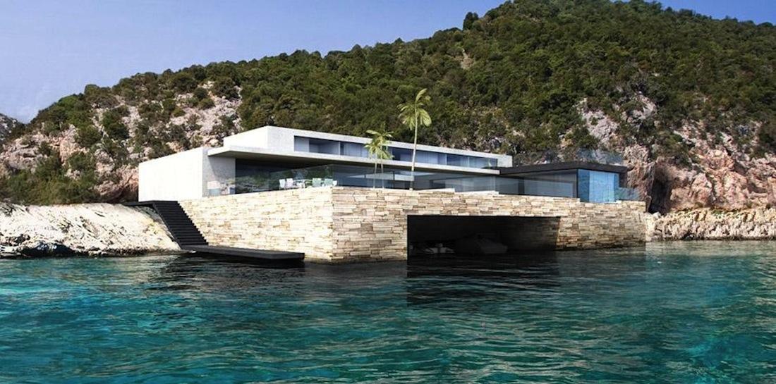 Une maison en sardaigne par vielliard fasciani for Maison piscine a debordement