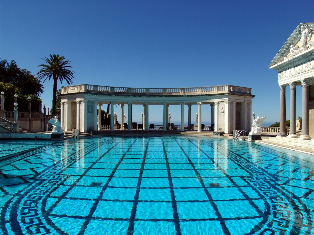 vue Hearst Castle Californie