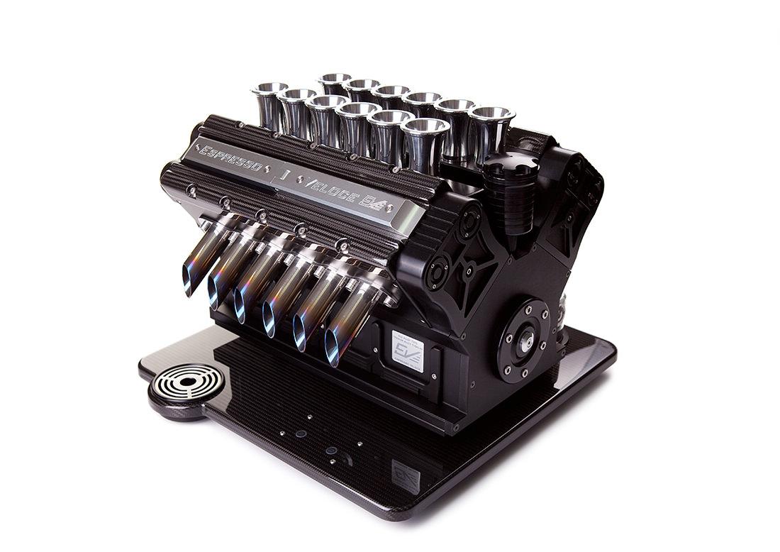 Une machine à espresso pour les fanatiques d'automobile