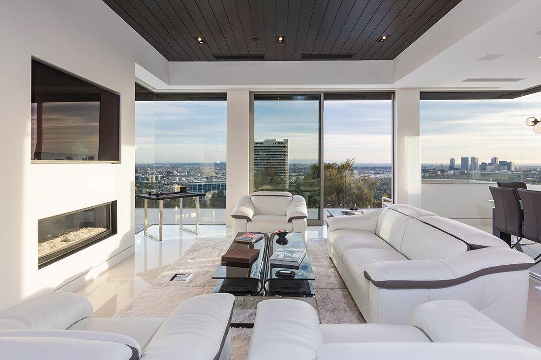 Sierra del mar 9380 une demeure de luxe beverly hills - Design of living rooms with picture ...