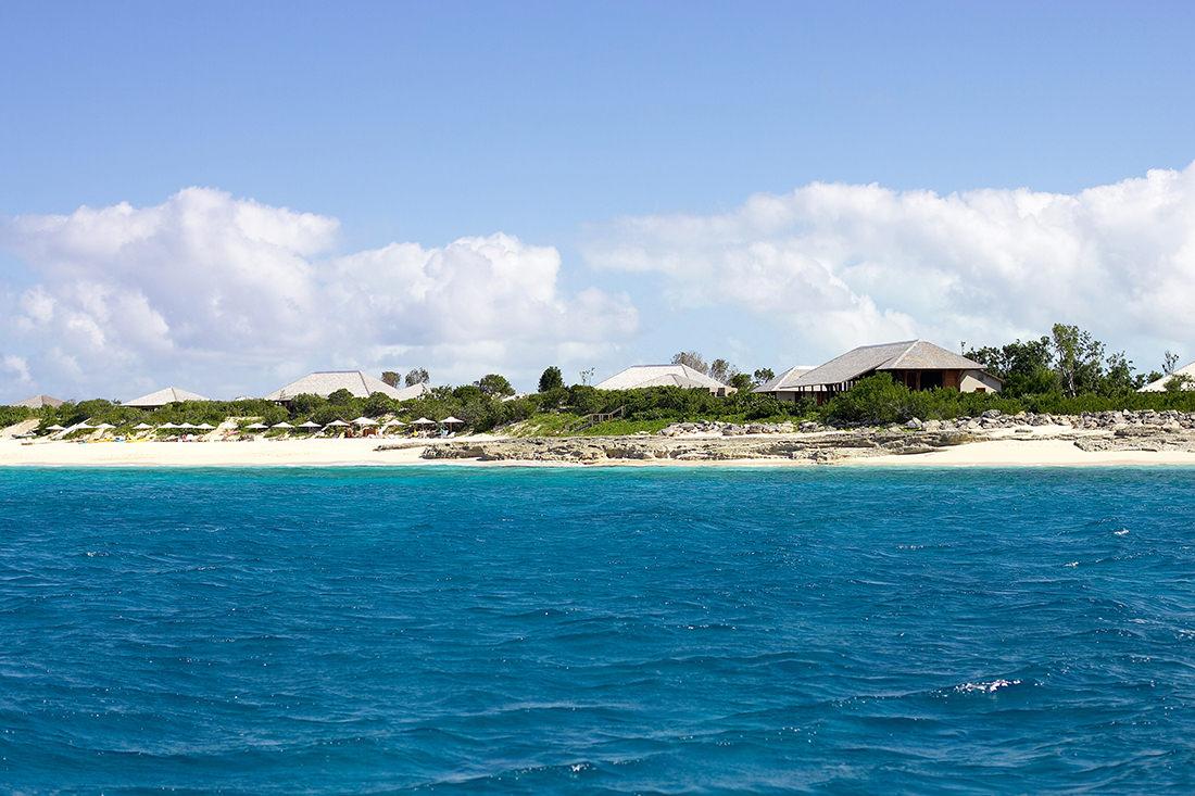 Amanyara - Beach Club - view from the sea