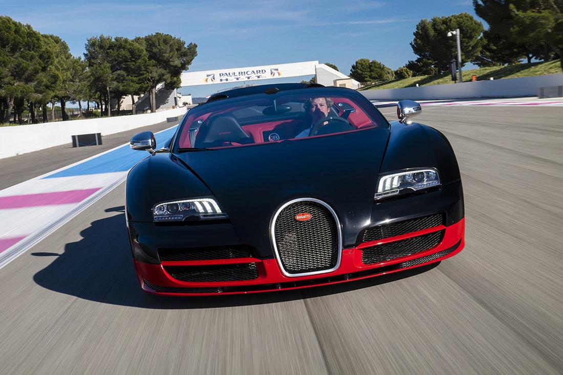 au volant de la bugatti veyron grand sport vitesse