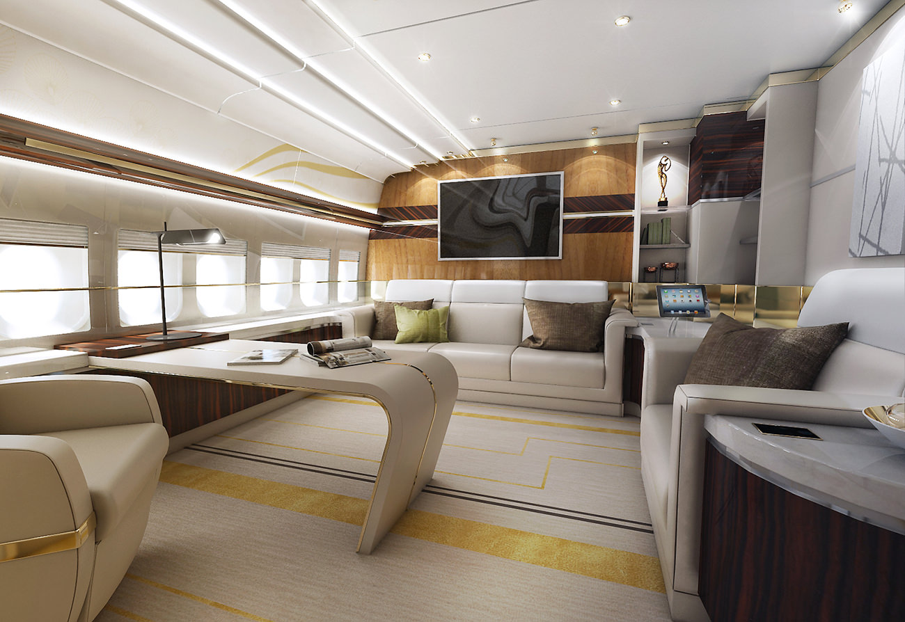 boeing 747 8 vip car interior design. Black Bedroom Furniture Sets. Home Design Ideas