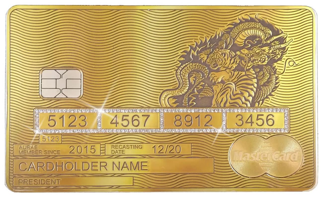Aurae mastercard la carte de cr dit de luxe personnalis e - Plafond carte gold mastercard credit agricole ...
