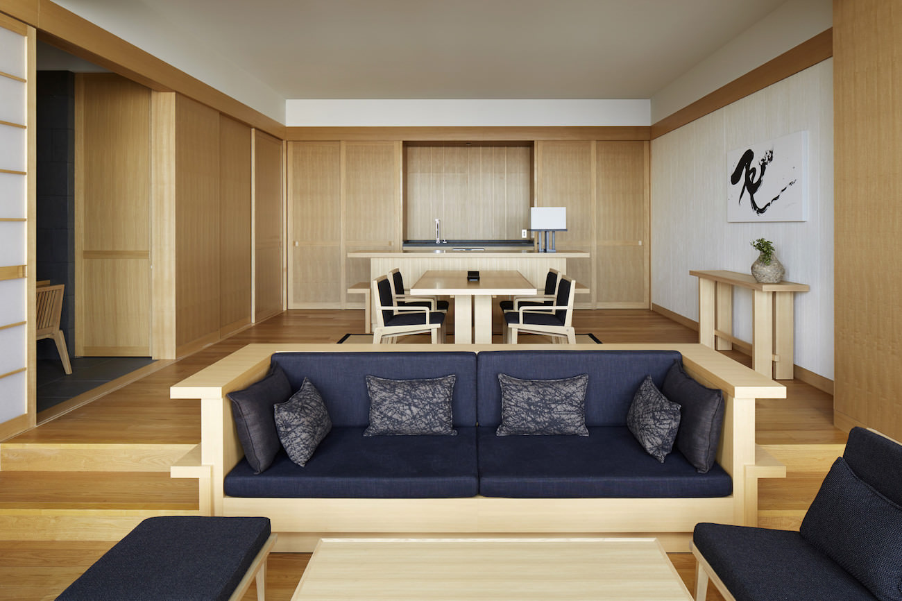 Aman Tokyo - Suite Living and Dining Area
