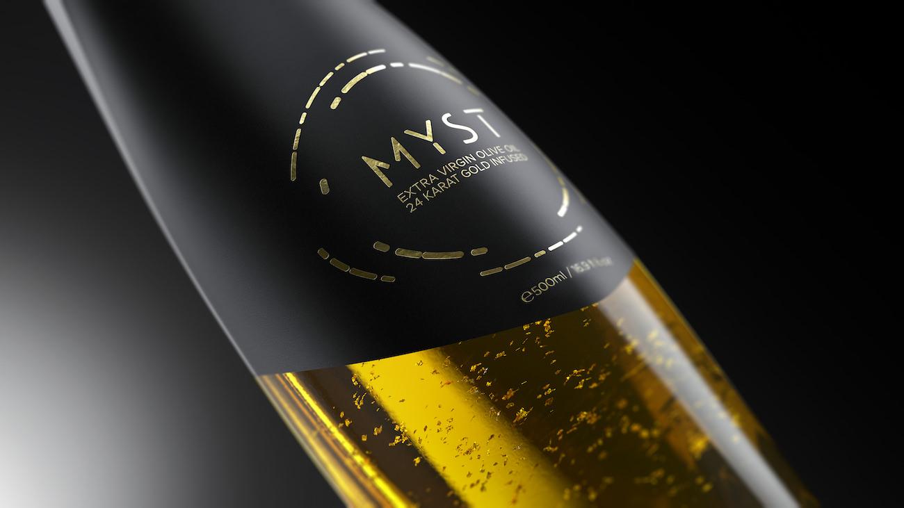 MYST Gold : l'huile d'olive des Dieux composée d'or 24 carats arrive dans votre cuisine