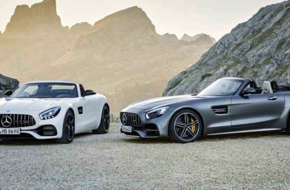 AMG GT  Roadster und AMG GT C Roadster (R 190), 2016 ;Kraftstoffverbrauch kombiniert: 11,4 - 9,4 l/100 km, CO2-Emissionen kombiniert: 259-219 g/kmAMG GT  Roadster and AMG GT C Roadster (R 190), 2016; fuel consumption, combined: 11.4-9.4 l/100 km; combined CO2 emissions: 259-219 g/km