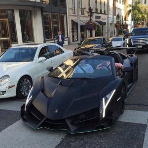 Lamborghini luxury life street